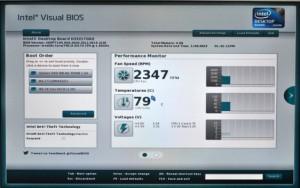 visual BIOSの設定画面