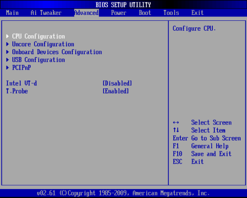 BIOSの設定変更1