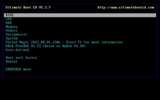 Ultimate Boot CD 5.3.2 - ダウンロード