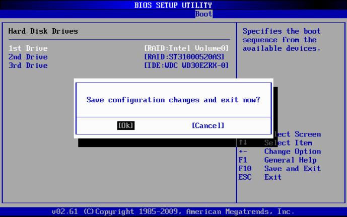 BIOSの設定保存