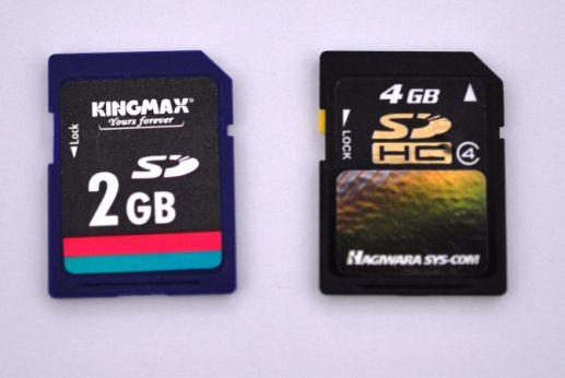 SDカードとSDHCカード