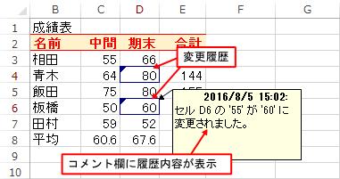 エクセルの「変更履歴の記録」機能を使って変更内容を復元する方法