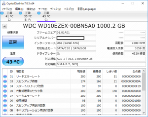 HDD/SSDの寿命を診断するS.M.A.R.T.ツール「Crystal Disk Info」